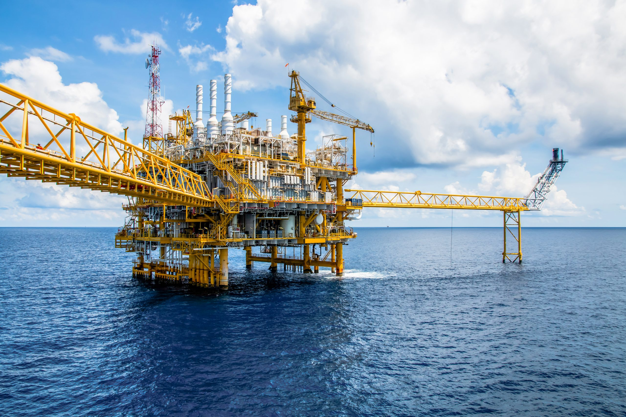 Picture of an offshore construction platform for the oil and gas industry